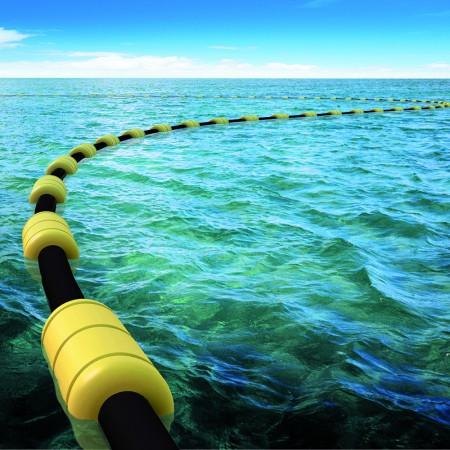 flowsafe-pijpleidingdrijver-pipeline-float-baggerleiding-dredging-eva-polyform-at-sea